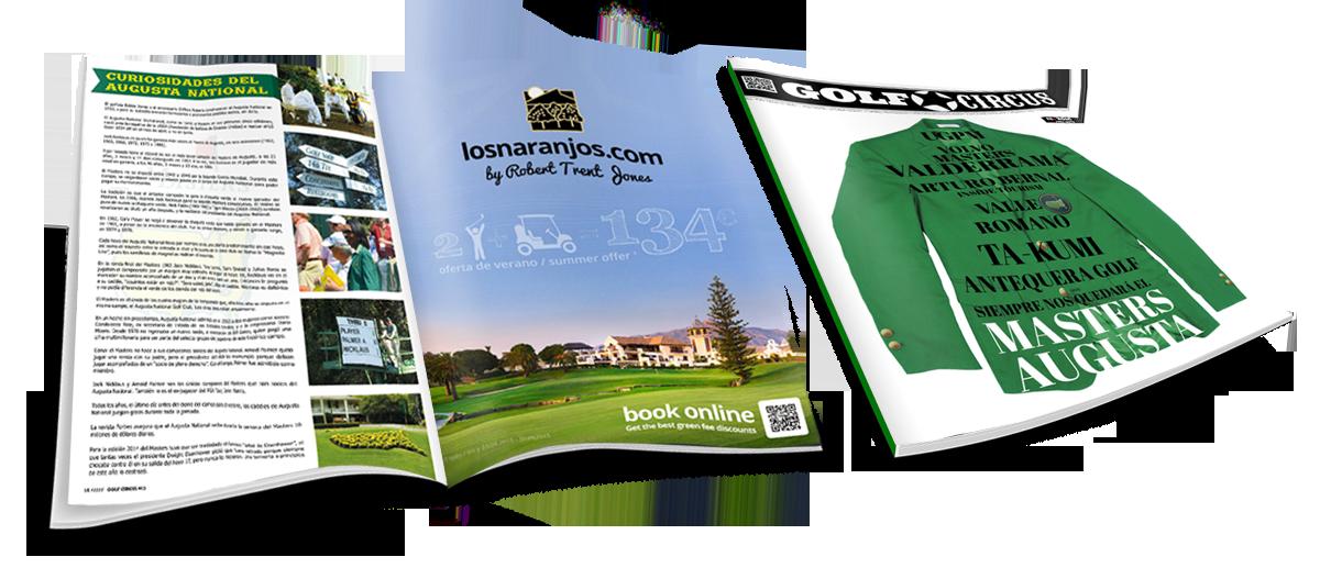 Diseño de publicidad para revistas de golf