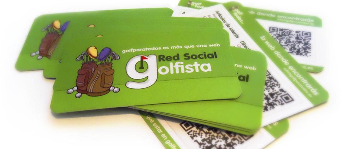 Diseño de tarjetas de visita corporativas para empresa de golf