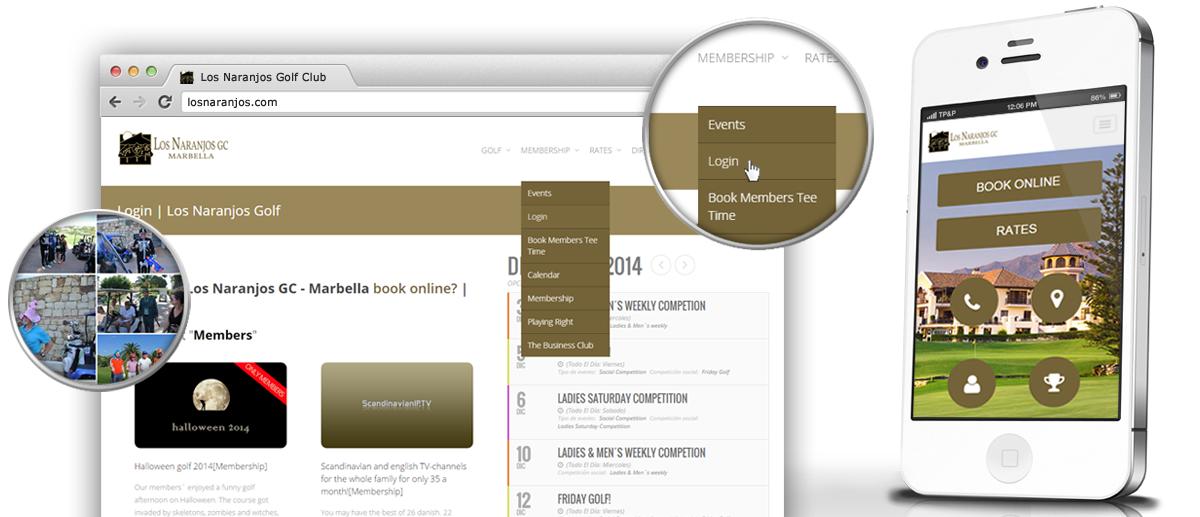 Diseño, desarrollo y mantenimiento web para el prestigioso Club de Golf Los Naranjos